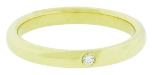Tiffany & Co. Tiffany & Co Elsa Peretti band ring with a round diamond in yellow gol