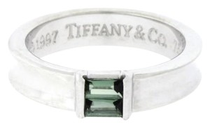 Tiffany & Co. Tiffany & Co Green Tourmaline Women's Ring In 18k white Gold Authentic