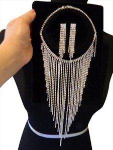 Michaels Long Rhinestone Crystal Necklace