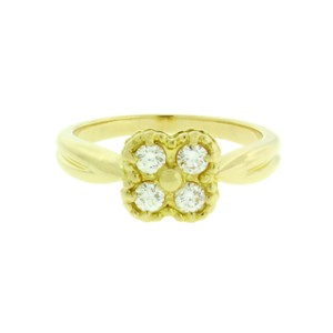 Van Cleef & Arpels Van Cleef & Arpels diamond Alhambra ring in 18k gold good condition