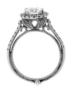 Verragio Couture 0433r Diamond Halo Engagement Ring In White Gold Size 625