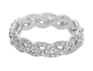 Verragio Eterna 4023 Diamond Womens Eternity Band In 18k White Gold Size 625