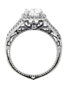 Verragio Venetian 5020cu 18k White Gold Diamond Halo Engagement Ring Size 625