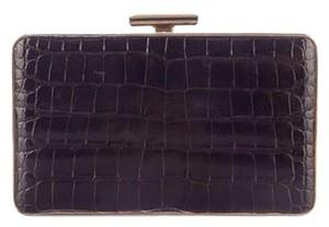 Judith Leiber Alligator Crocodile Black Clutch