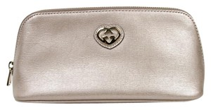 Gucci New Gucci Women's Light Pink Leather Cosmetic Bag w/Interlocking G 338190 5711