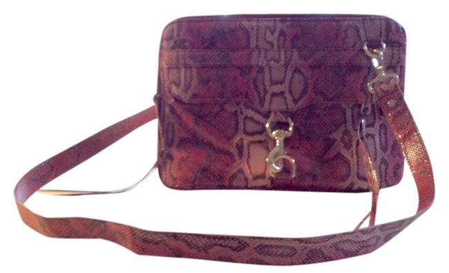 Item - Trendy Pink/ Multi / Snake Print Leather Laptop Bag