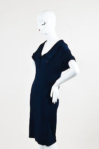 Hermès short dress Blue Hermes Navy Crepe Jersey on Tradesy