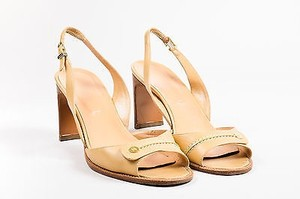 Chanel Tan Leather Round Nude Sandals