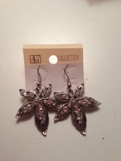 Other Crystal Pot Leaf Earrings