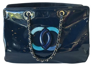 Chanel Patent Tote in Blue