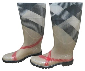 Burberry Tan/Red/Black Boots