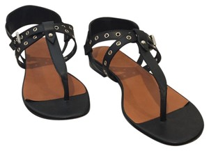IRO Thong Studded French Summer Black Sandals