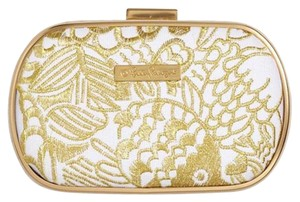 Lilly Pulitzer for Target Gold and white Clutch