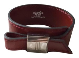 Hermès Hermes Artemis Bordeaux Leather Bracelet!!
