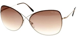Tom Ford Authentic TOM FORD COLETTE TF250-28F Shiny Rose Gold/Brown Gradient Sunglasses