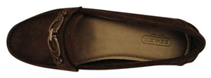 Coach Fortunata Loafers Loafers Suede Brown Flats
