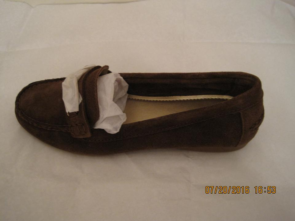 2a80a1c0236 Coach Fortunata Loafers Loafers Suede Brown Flats Image 11. 123456789101112