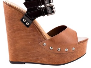 Chinese Laundry Black/brown Wedges