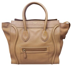 Céline Mini Luggage Calfskin Tote in Camel