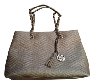 Perlina Purse Quilted Tote in Stone