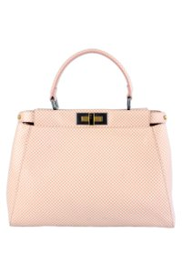 Fendi Peekaboo Satchel in Pink and White