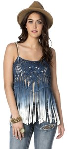 Miss Me Top Blue Ombre'