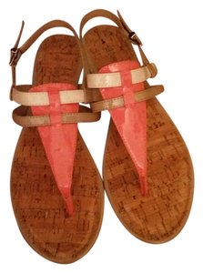 Arturo Chiang Salmon, Tan & White Sandals