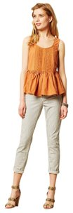Anthropologie Burn Vanessa Virginia Poplin Ruffled Top PAPRIKA