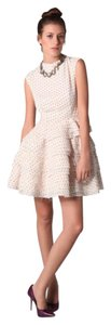 Camilla and Marc short dress Ivory Frill Red Spot Australian on Tradesy