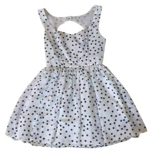 Forever 21 short dress White with black polka dots on Tradesy