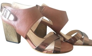Isola Chunky Leather Brown Bronze Wedges