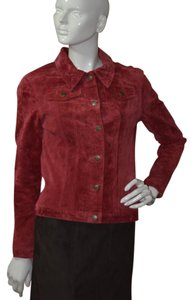 For Joseph Red Leather Jacket