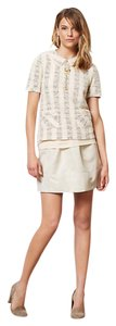 Anthropologie Mini Skirt Beige