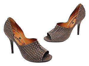 Lanvin Stiletto Brown Python Pumps