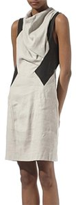 Helmut Lang short dress Linen/Leather on Tradesy