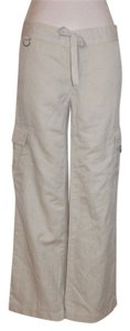 Banana Republic Wide Leg Cargo Relaxed Summer Cargo Pants BEIGE