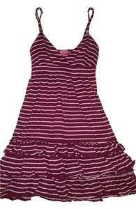 Victoria's Secret short dress Maroon and pink Summer on Tradesy
