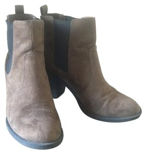 H&M Suede Chunky Bootie Brown Boots