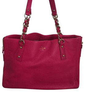 Kate Spade Pebbled Leather Pink Shoulder Bag