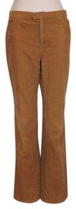 Zara Fall Winter Corduroy Straight Pants YELLOW