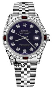 Rolex Women's Rolex 31mm Datejust Purple Color Dial with Ruby & Diamond Accent Watch