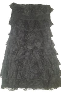 Express Lace Strapless Cocktail Dress