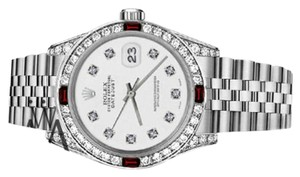 Rolex Women's Rolex 31mm Datejust White Color Dial with Ruby & Diamond