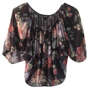 Rue 21 Flowers Top Navy w/ Floral