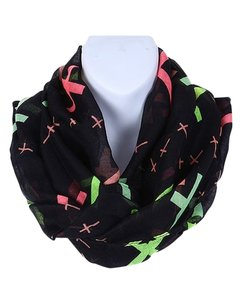Other FASHION CROSS PRINT INFINITY SCARF