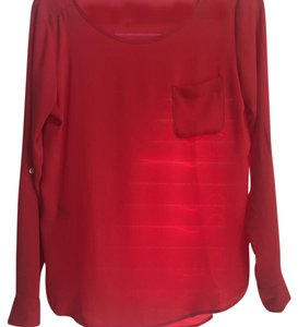 Ann Taylor LOFT Work Business Fall Layer Top Red