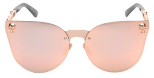 Elle Cross Elle Cross Sugar Skull Rimless Pink Blush Mirror Sunglasses