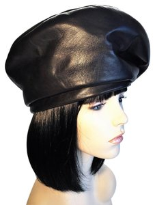 B Michael b michael Modified Beret in Leather & Suede [ HeavenlyHats ]