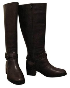 Coach Carolina Wide Calf Extended Calf Brown Boots