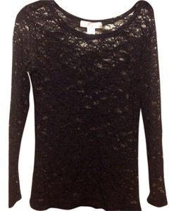 The Limited Lace Like New Top Black